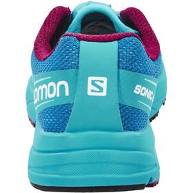 Salomon Sonic Aero Trailrunning Schuhe Damen fog blue/teal blue f/mystic purple